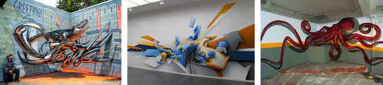 graffiti estilo 3d