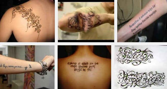 estilos de letras para tatuajes