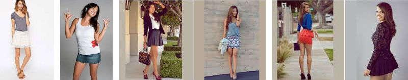 estilos de faldas