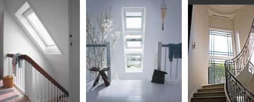 ventanas y escaleras