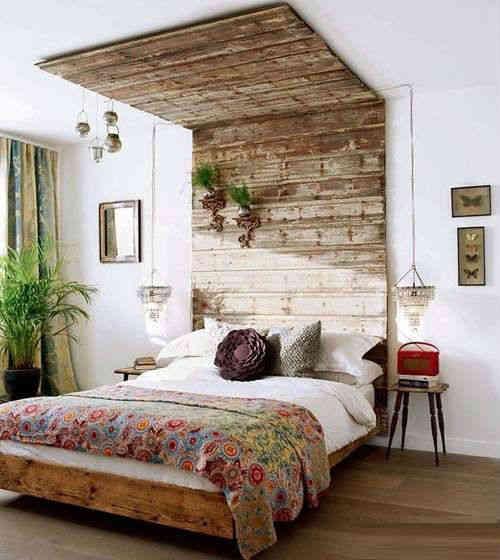 estilo de cama rústica