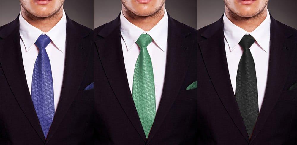 estilo de corbata clasico y elegante