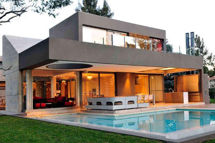 Estilos de casas estilos for Interiores de casas modernas de una planta