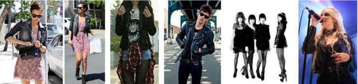 estilo de moda rockera
