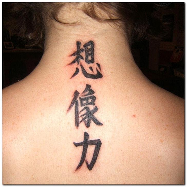 estilo kanji tatuaje letras