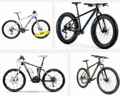 estiolos de bicicletas