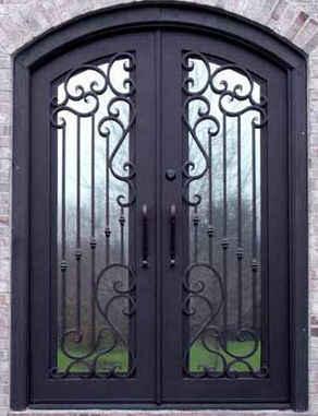estilos de puertas de metal